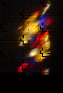 Stained Glass Window in the Silver Lake College Chapel by Dr. John Stern