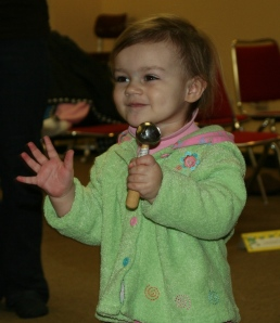 Zylia Kleinfeldt enjoys her Music for Tots Class